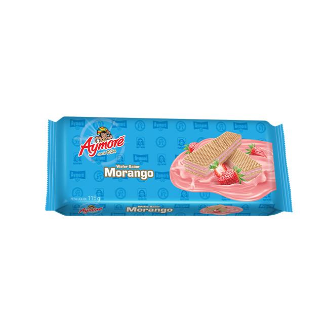 Biscoito Wafer Aymoré Morango 115g