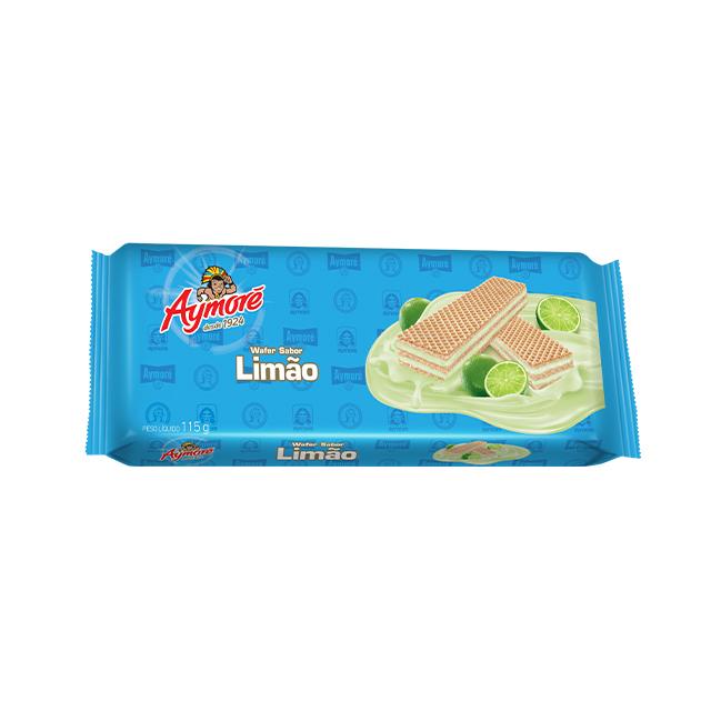 Biscoito Wafer Aymoré Limão 115g