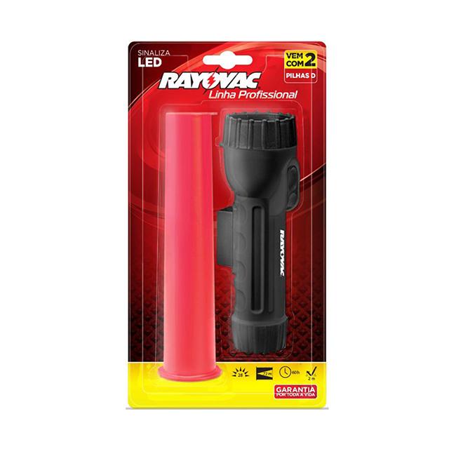 Lanterna Profissional Rayovac com Sinalizador com 2 Pilhas