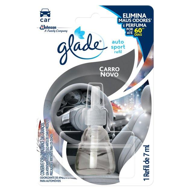 Desodorizador GLADE Auto Sport Carro Novo Refil 7ml