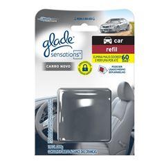 Desodorizador Glade Sensations Car Carro Novo Refil 8g