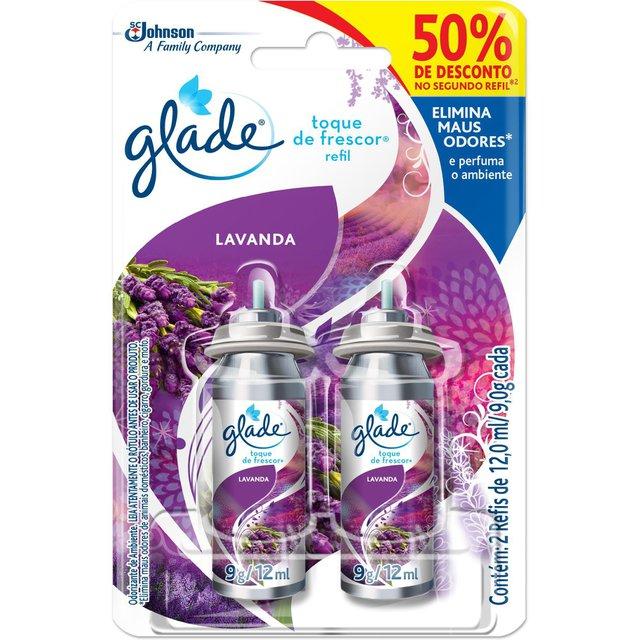 Desodorizador GLADE Toque de Frescor Refil Lavanda Leve 2 Com Desconto