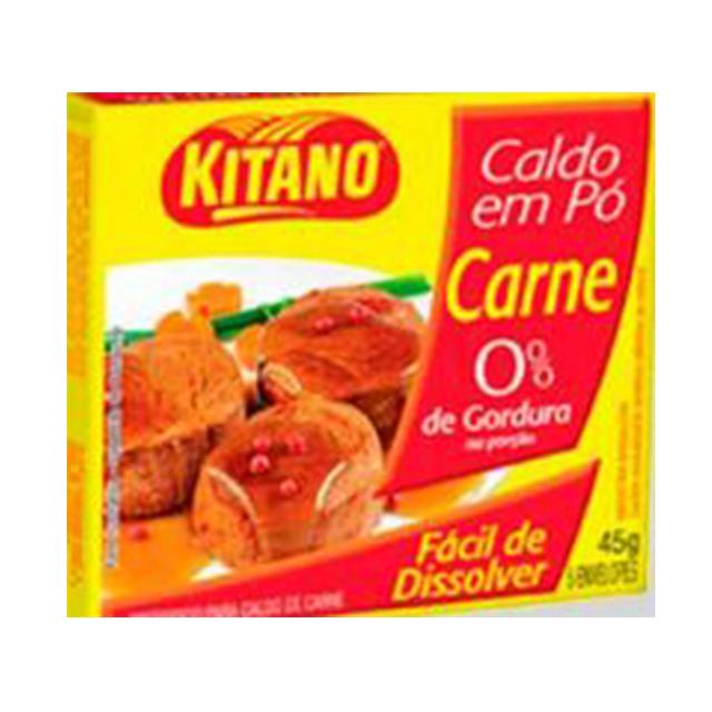 Caldo em Pó Kitano Carne 37,5g   Com 5 Envelopes