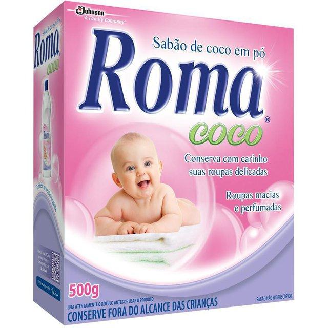 Sabão em Pó Roma Coco 500g