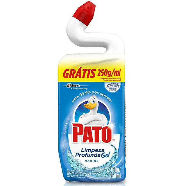 Pato Limpador Sanitário Marine Leve 750ml Pague 500ml