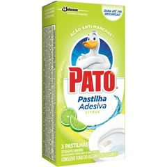 Desodorizador Sanitário Pato Pastilha Adesiva Citrus 3 Unidades