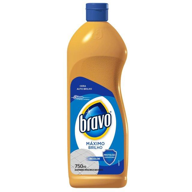 Cera Incolor Bravo Máximo Brilho 750ml