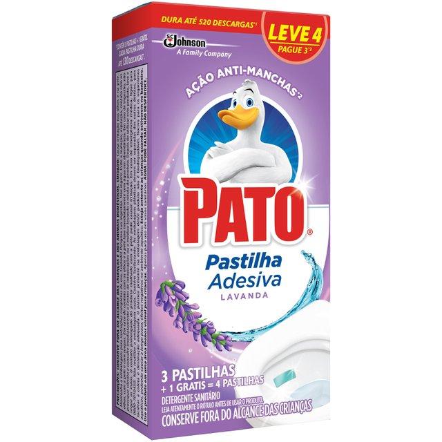 Desodorizador Sanitário PATO Pastilha Adesiva Lavanda Leve 4 Pague 3 unidades