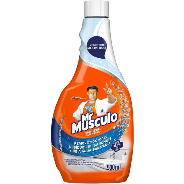 Limpador Mr Músculo Banheiro Total Refil 500ml