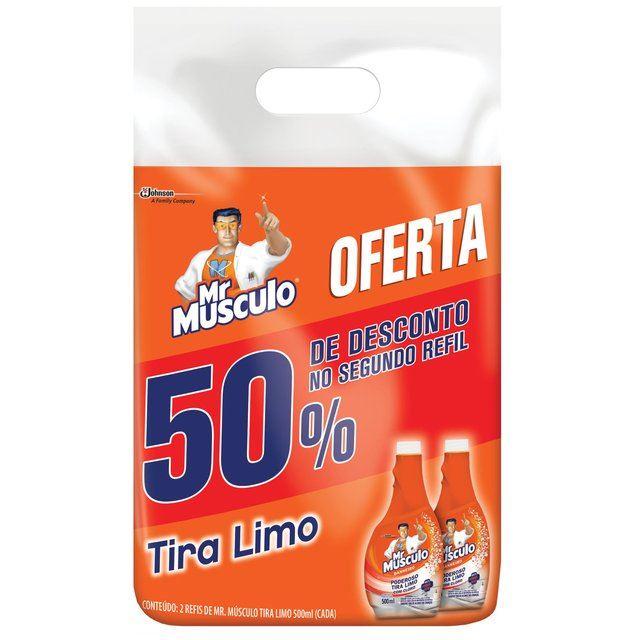 Limpador Mr Músculo Tira Limo Refil 2 Unidades De 500ml Cada