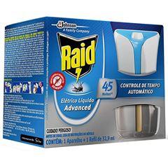 Repelente Elétrico Líquido Raid Advanced Aparelho + Refil Regular 32,9 Ml