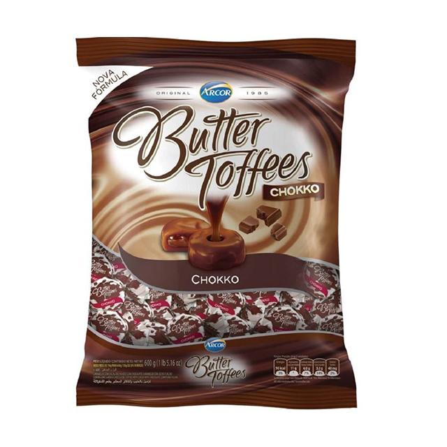Bala Recheada Arcor Butter Toffees Chokko 600g
