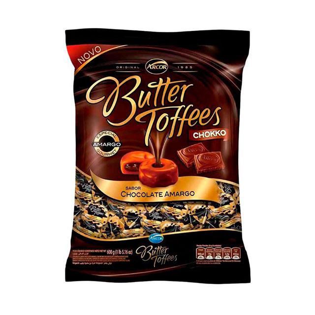 Bala Recheada Arcor Butter Toffees Chokko Amargo 600g