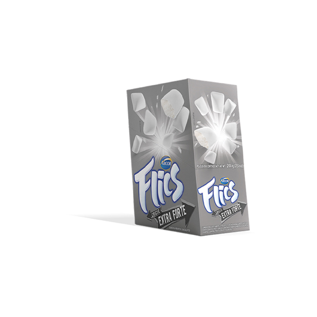 Chicle Arcor Flics Extra Forte Blister | Com 12 Unidades
