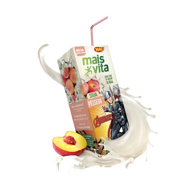 Bebida de Soja Yoki Mais Vita Pêssego 200ml