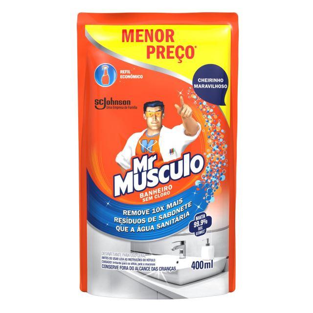 Limpador Mr. Músculo Banheiro Total Refil 400ml Oferta Especial