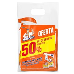 Desengordurante Mr Músculo Cozinha Total Pack Gatilho 500ml + Refil 500ml