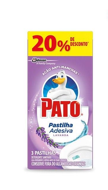 Pato Pastilha Adesiva Lavanda C/ 3un Com 20% Desconto