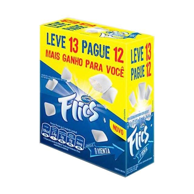 Chicle ARCOR FLICS MENTA BLISTER LEVE 13 PAGUE 12 UNIDADES