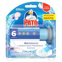 Desodorizador Sanitário Pato Gel Adesivo Aplicador + Refil Marine 6 Discos