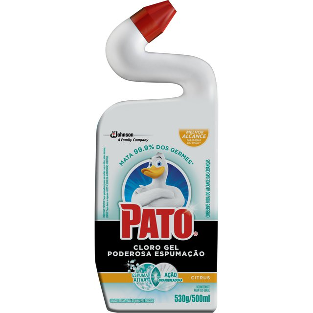 Limpador PATO Cloro Gel Ativo Citrus 500ml