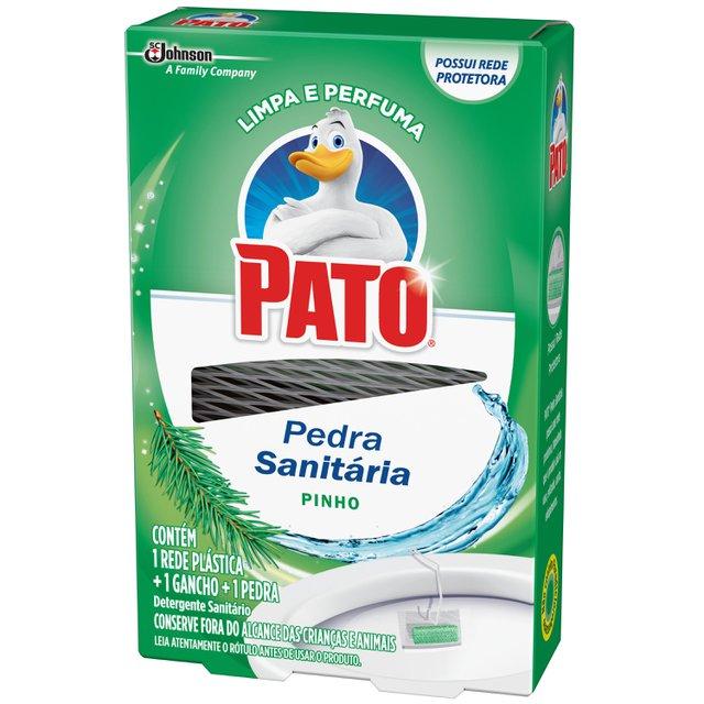 Desodorizador Sanitário Pato Pinho (1 Rede Plástica + 1 Gancho + 1 Pedra) 25g