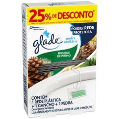 Desodorizador Sanitário Glade Pinho (1 Rede Plástica + 1 Gancho + 1 Pedra) Com 25% De Desconto