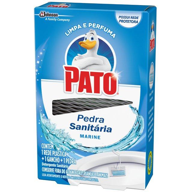 Desodorizador Sanitário Pato Marine (1 Rede Plástica + 1 Gancho + 1 Pedra) 25g