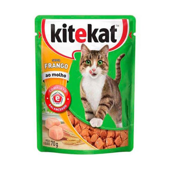 Ração Úmida para Gatos Kitekat Frango Sachê 70g