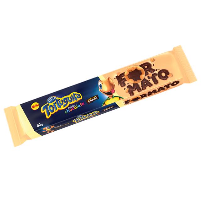 BISCOITO RECHEADO AYMORÉ TORTUGUITA FORMATO CHOCOLATE 90G