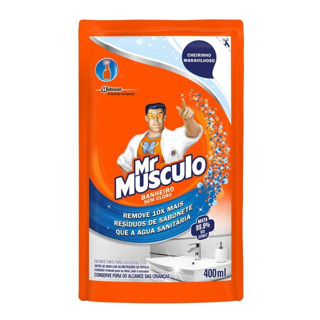 Limpador MR. MÚSCULO Banheiro Total Refil 400ml