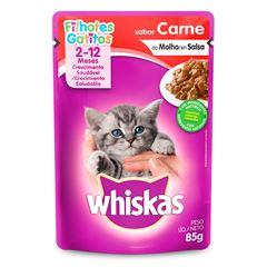 Ração Úmida Para Gatos Whiskas Filhotes Carne Sachê 85g