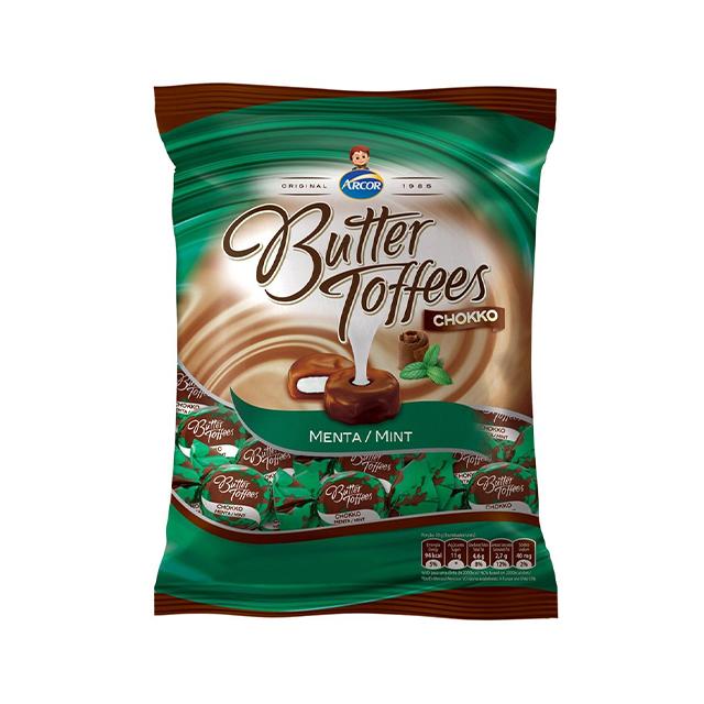 Bala Recheada Arcor Butter Toffees Chokko Menta 100g