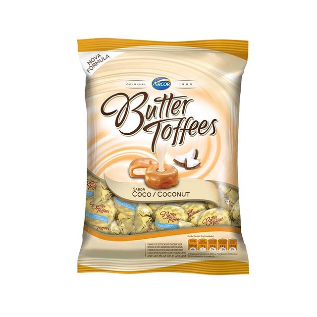 Bala Recheada Arcor Butter Toffees Coco 100g