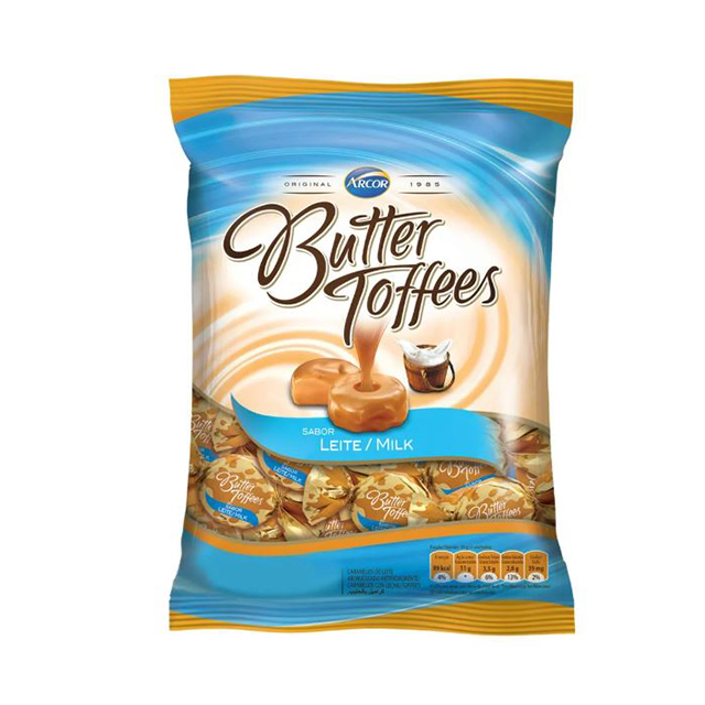 Bala Recheada Arcor Butter Toffees Leite 100g