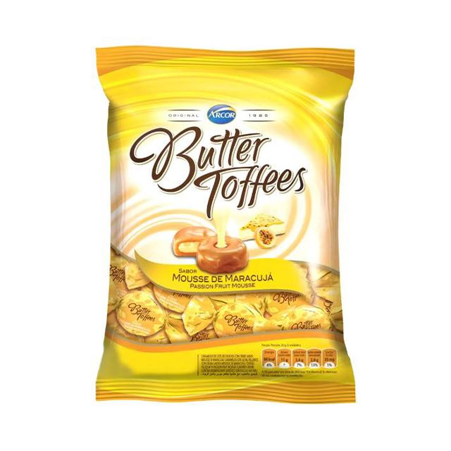 Bala Recheada Arcor Butter Toffees Maracujá 100g