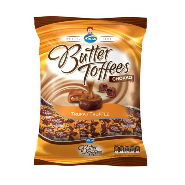Bala Recheada Arcor Butter Toffees Chokko Trufa 100g