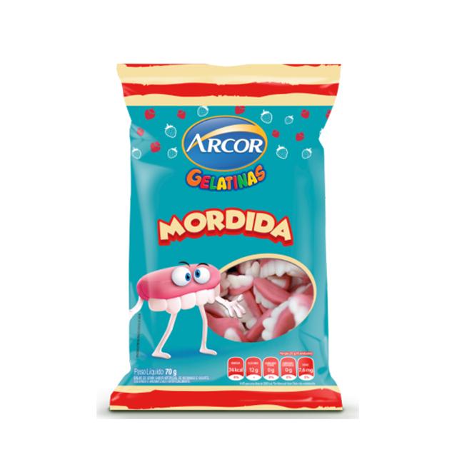 Bala Gelatinosa Arcor Mordida 70g