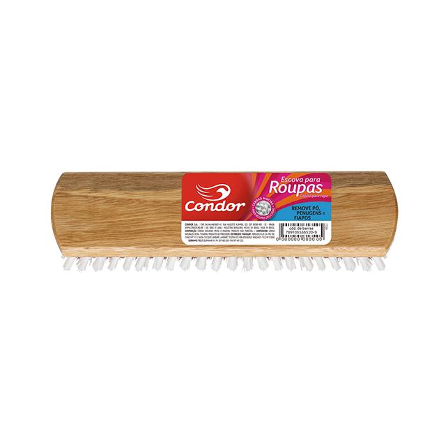 Escova para Roupa Condor Madeira Retangular | Ref: 7720