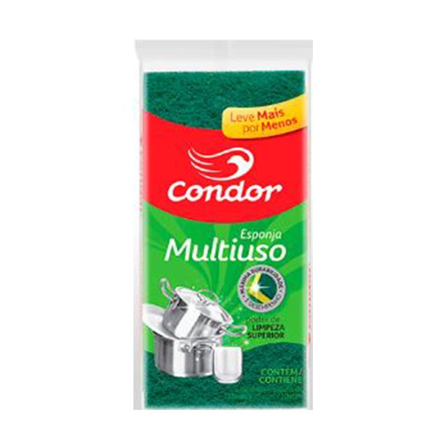ESPONJA MULTIUSO CONDOR | COM 3 UNIDADES | REF: 1534