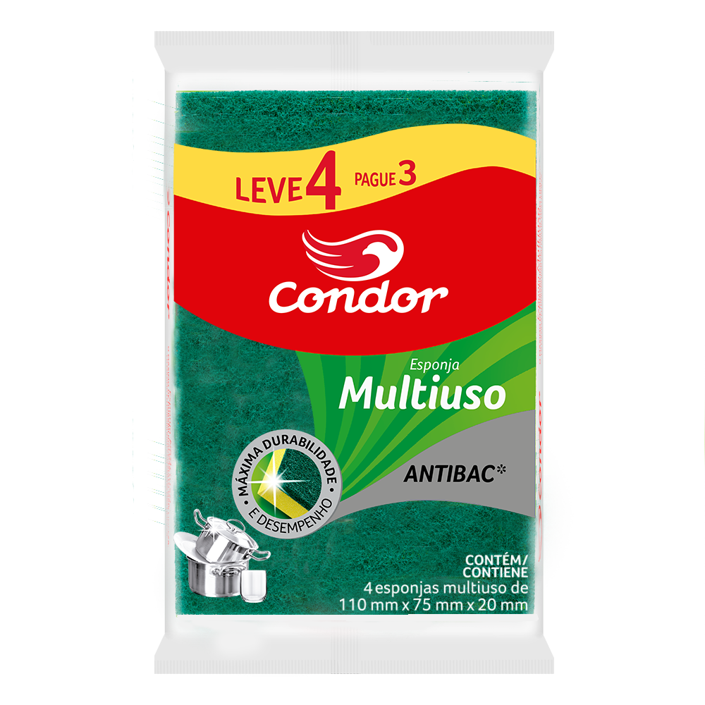 Esponja Condor Multiuso Leve 4 Pague 3 Unidades | Ref: 1539