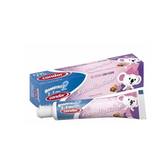 Gel Dental Infantil Condor Lilica Ripilica Bambinos 2 50g | Ref: 3512