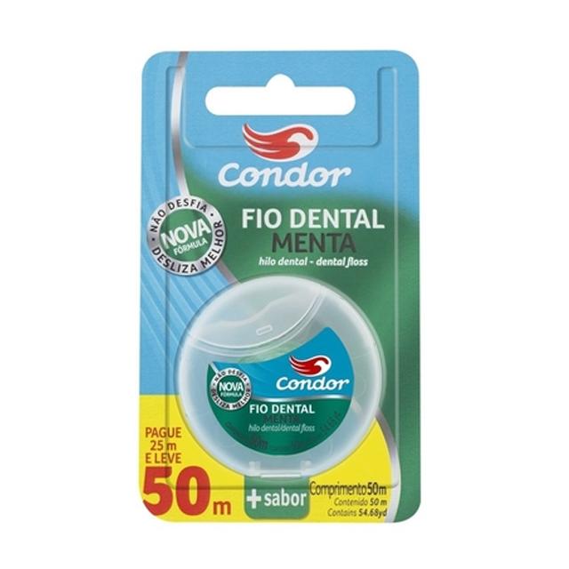 Fio Dental Condor Menta Leve 50M Pague 25M | Ref: 3416