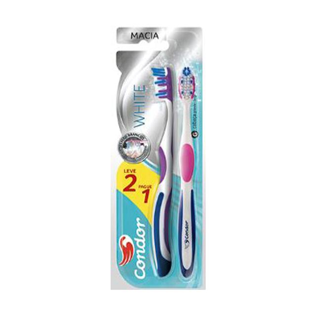 Escova Dental Condor White Macia Leve 2 Pague 1 Unidade| Ref: 8112
