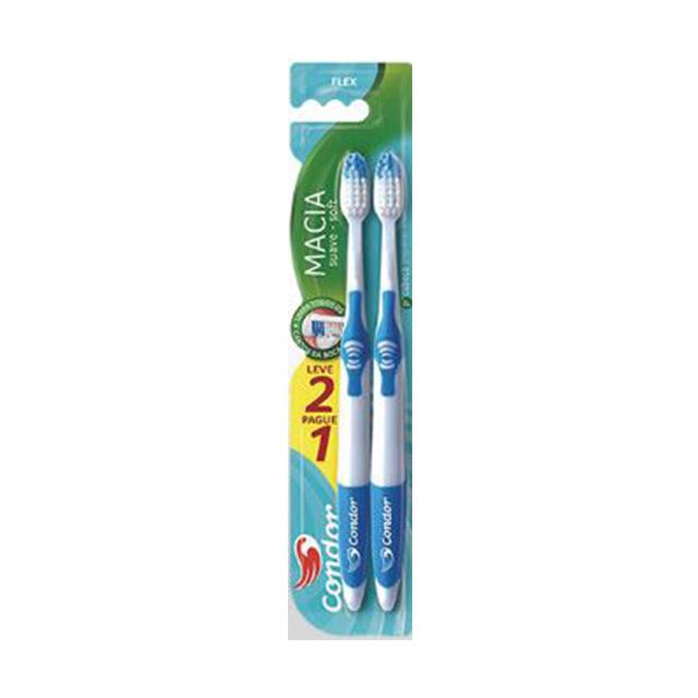 Escova Dental Condor Flex Macia Leve 2 Pague 1 Unidade | Ref: 8046-0