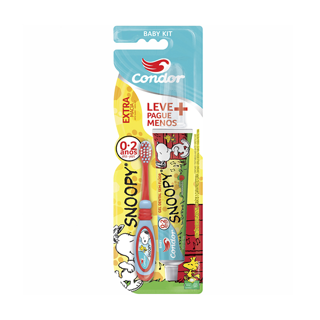 Kit Dental Infantil Condor Lilica Ripilica Escova Dental e Gel Dental | Ref: 8160