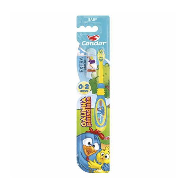 Escova Dental Infantil Condor Baby Galinha Pintadinha Extra Macia | Ref: 3161-3