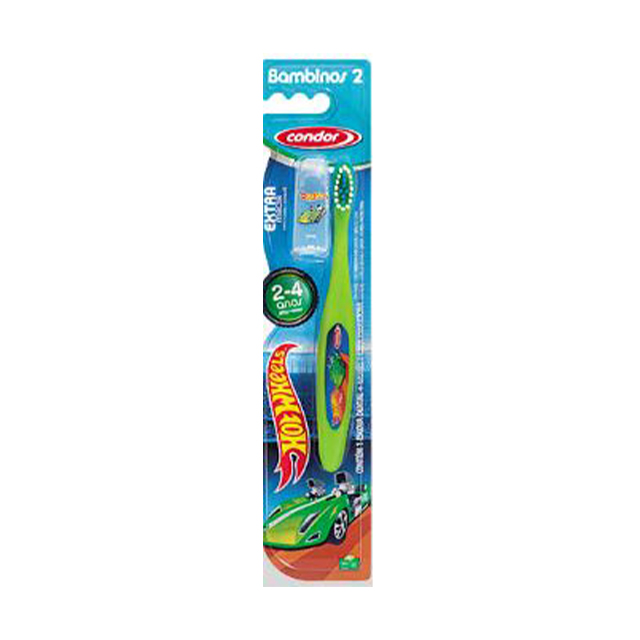 Escova Dental Infantil Condor Hot Wheels Bambinos 2 | Ref: 3167-3