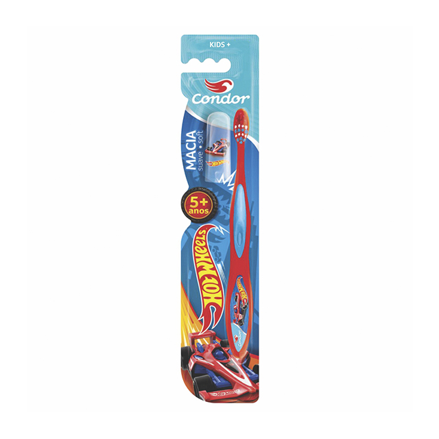 Escova Dental Infantil Condor Hot Wheels Bambinos 3 | Ref: 3170-0