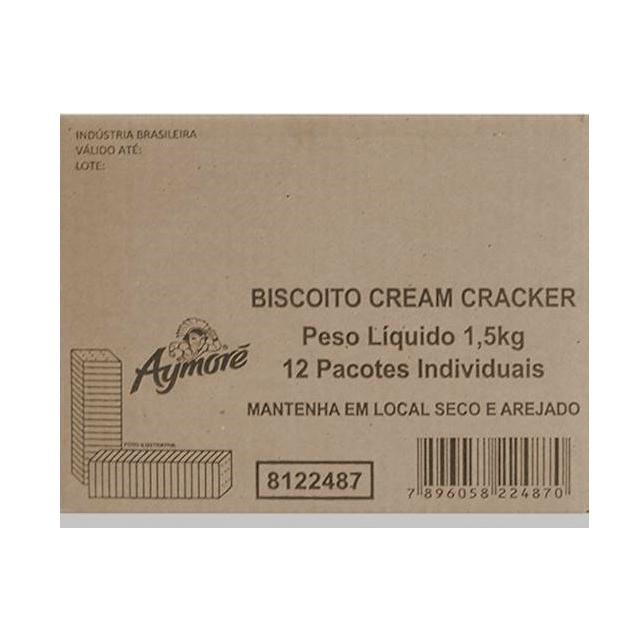 Biscoito Cream Cracker Aymoré 1,5kg